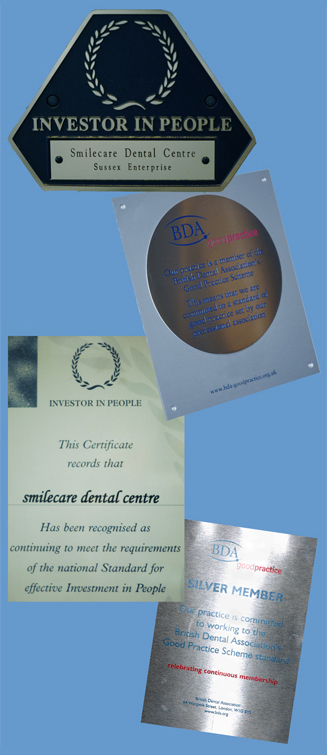 Awards achieved by a Crawley Dentist